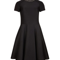 Embossed neoprene dress - Black | Dresses | Ted Baker UK