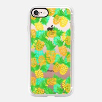 Watercolor Pineapples Tropic iPhone 7 Case by Lisa Argyropoulos | Casetify