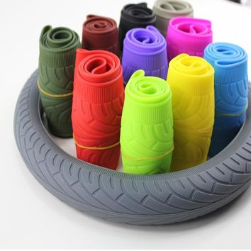 Soft Silicone Car Steering Wheel Cover Anti-slip Breathable Four Seasons General Silica Gel Wheel Cover