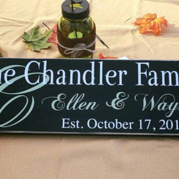 Personalized Gift, Family Established Sign, Wedding gift, Custom, Anniversary, Couple, Marriage, Simply Fontastic, Bridal Shower, Wife