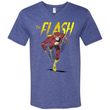 Flash Classic Barry Allen Dash Men's T-Shirt 982 Anvil Men's Printed V-Neck T-Shirt