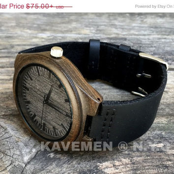 SALE Wood Watch. Mens Black Wo0d Watch. Engrave Watch. Personalized Watch. Brooklyn. Kavemen. Watches. Wood Watches. Fathers Day. Wooden Wat