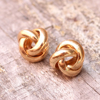 Knot Studs- Gold