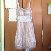 Short light pink and silver homecoming dress