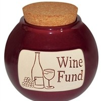 Wine Fund Deluxe Money Jar