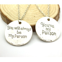 Grey Anatomy Letter Necklace
