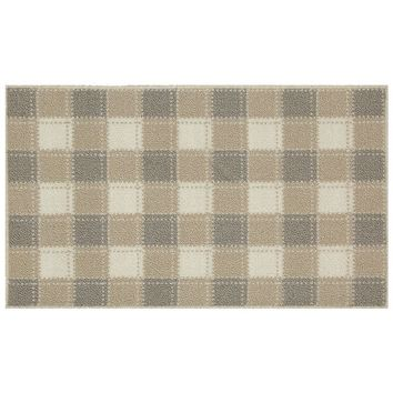 Food Network Boyd Gingham Rug - 20'' x 34'' (Beige/Khaki)