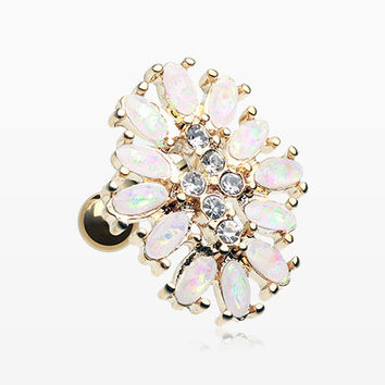 Golden Opal Gilia Delight Flower Cartilage Tragus Earring