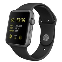 Apple Watch Sport - 42mm Space Gray Aluminum Case with Black Sport Band