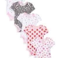 Infant Girl's Rosie Pope Baby Print Cotton Bodysuits ,