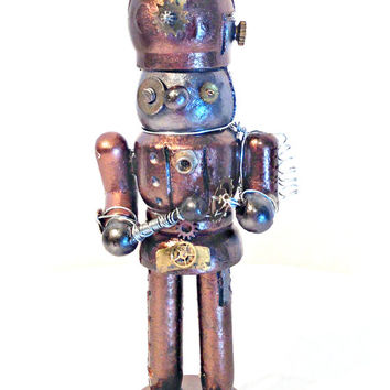 Small Steampunk Robot Nutcracker