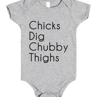 Chubby thighs-Unisex Heather Grey Baby Onesuit 00