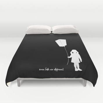 Some kids are different - Girl Duvet Cover by HappyMelvin