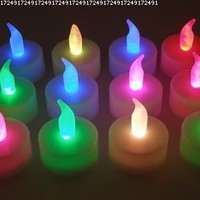 Lily's Home® Color Changing Everlasting Tealights Candles with 7 Rainbow Colors- Set of 12