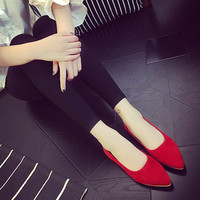 Casual Pointed Toe Flat Shoes