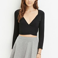 Tie-Front Wrap Crop Top