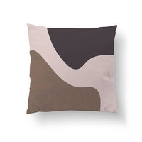 Textured Watercolor, Throw Pillow, Modern Shapes, Cushion Cover, Modern Art, Brown Black Shapes, Decorative Pillow, Simple Art, Home Decor