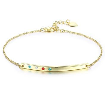STYLEDOME Simple Style Gold Color Charm Bracelet Jewelry Gift for Women Chain Link Infinite Bracelet & Bangle High Quality
