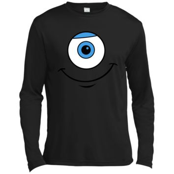 Disney Monsters Inc. Mike Eye Smile Graphic T-Shirt  ST350LS Spor-Tek LS Moisture Absorbing T-Shirt