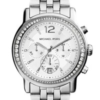 Michael Kors 'Baisley' Crystal Bezel Chronograph Bracelet Watch, 41mm (Nordstrom Exclusive)
