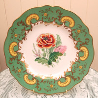 Antique Copeland Plate Dated 4 May 1852. Collector's Plate Home Decor Display