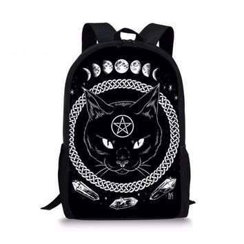 Gothic Moon Phase Witching Cat Backpack