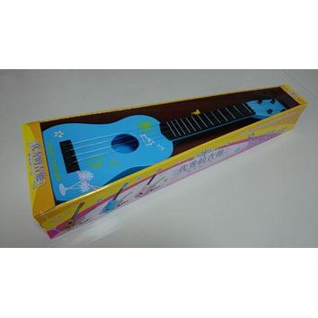 """Kid Chilren Music Instrument Mini Acoustic Guitar Toy 21"""" ABS Plastic 4 Strings"""