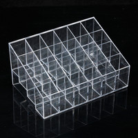 24 Quadrates Acrylic Clear Cosmetic Container Makeup Storage Organizer