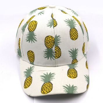 Pineapple Printed Baseball Cap Hat