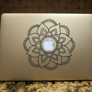 Mandala Decal Custom Vinyl Computer Laptop Car auto vehicle window decal custom sticker Boho Decal Bohemian Decal