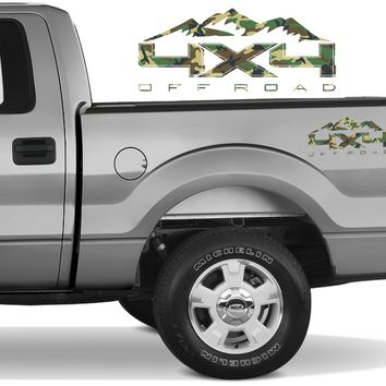 4X4 OFF ROAD MOUNTAIN Bedside Forest Decal Fit Ford 2008-2017 F150-250 SUPER DUTY