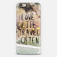 Love Life Travel Often (roadside) iPhone 6 case by Lisa Argyropoulos | Casetify