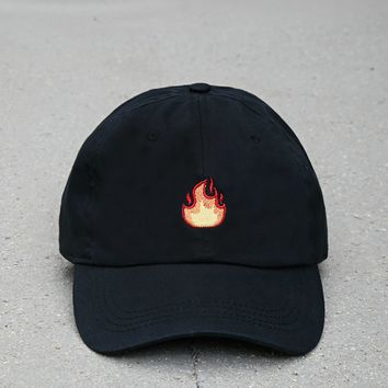 City Hunter Flame Dad Cap