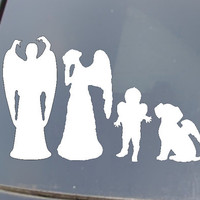 Weeping Angel Family Car Sticker set of 4