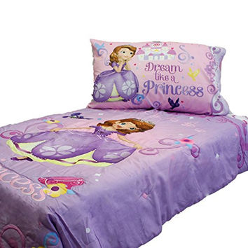 Sofia First Princess Scrolls 4 Piece Toddler Bedding Set by Store 51