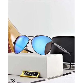 Giorgio Armani trend men and women models sunscreen anti-UV large frame color film polarized sunglasses #3