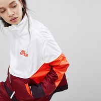 Nike Colourblock Woven Popper Track Jacket at asos.com