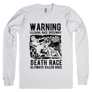 t-shirt warning illegal race speedway