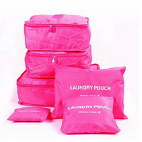 Travelling Bag 6 set travel Organizers Packing Cubes Luggage Organizers Compression Pouches Rose LXB-0006