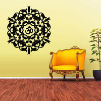 Wall Decal Vinyl  Mural Sticker Art Decor Bedroom Flowers Mandala Menhdi Curly Om Hindu Buddha (z1972)