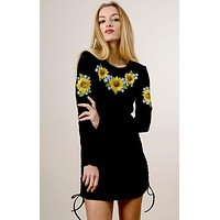 """Women's embroidered tunic """"Sunflowers"""""""