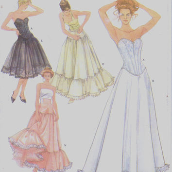 Simplicity Sewing Pattern 5006 Womens Wedding Lingerie Corset and 4 Petticoats Victorian Lingerie Size 14 16 18 20 Bust 36 38 40 42 UnCut