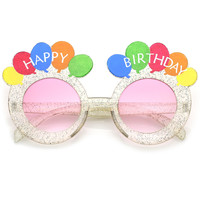 Novelty Round Happy Birthday Party Balloons Sunglasses C169