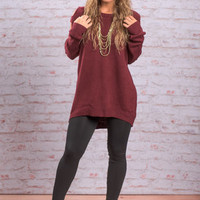 Spaced Out Sweater, Burgundy