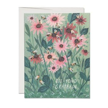 RED CAP CARDS BEE-YOND GRATEFUL CARD