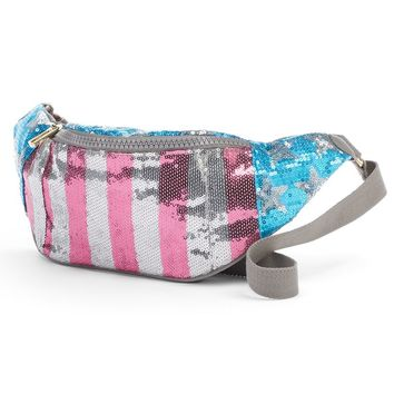 Juicy Couture American Flag Sequin Fanny Pack (Blue)