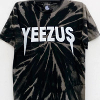 Brand New Kanye West Yeezus Bleached Tie Dye Tee Shirt, Music Shirt, Great Fan Yeezy Tour Shirt