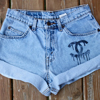 Chanel Drip Levi's Shorts