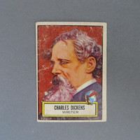 1952 TOPPS Look 'n See Charles Dickens, Card No 125, Famous Writers Series