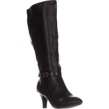 KS35 Hulah Knee High Dress Boots, Black, 7.5 US